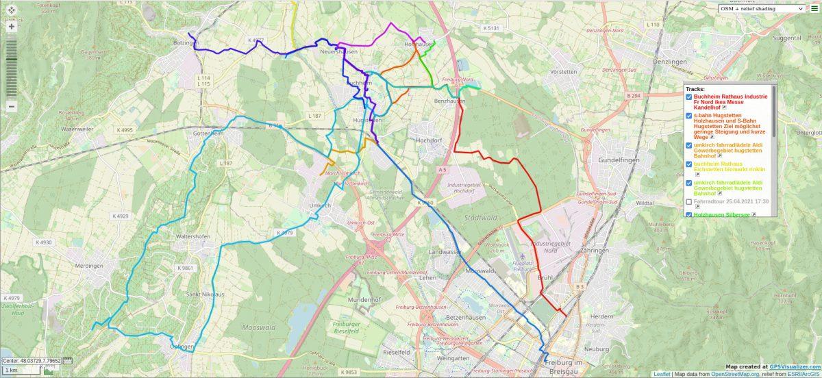 GPSVisualizer Screenshot
